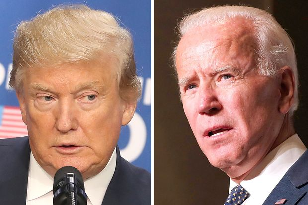 Las diferencias entre Donald Trump y Joe Biden. Foto: Wall Street Journal.